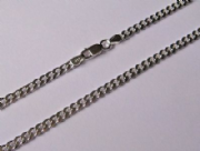 "16"" 41cm 3.5mm thick Sterling Silver curb Chain 9.6g"